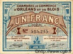 1 Franc FRANCE régionalisme et divers ORLÉANS ET BLOIS 1920 JP.096.03 TTB à SUP