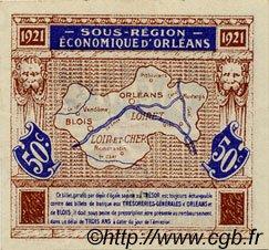 50 Centimes FRANCE régionalisme et divers Orléans et Blois 1921 JP.096.05 SPL à NEUF