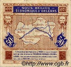 50 Centimes FRANCE régionalisme et divers ORLÉANS ET BLOIS 1921 JP.096.05 TTB à SUP