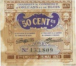 50 Centimes FRANCE régionalisme et divers Orléans et Blois 1921 JP.096.05 TB