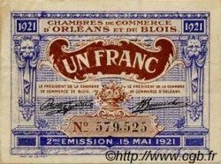 1 Franc FRANCE régionalisme et divers ORLÉANS ET BLOIS 1921 JP.096.07 TB