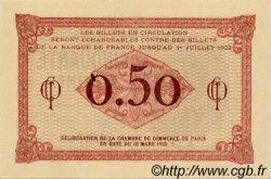 50 Centimes FRANCE régionalisme et divers Paris 1920 JP.097.10 SPL à NEUF