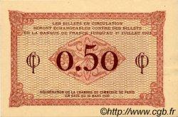 50 Centimes FRANCE régionalisme et divers Paris 1920 JP.097.10 TTB à SUP