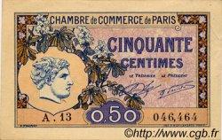 50 Centimes FRANCE régionalisme et divers Paris 1920 JP.097.31 TTB à SUP