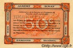 50 Centimes FRANCE régionalisme et divers PÉRONNE 1920 JP.099.01 SPL à NEUF