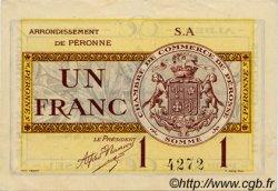 1 Franc FRANCE régionalisme et divers PÉRONNE 1920 JP.099.02 TTB à SUP