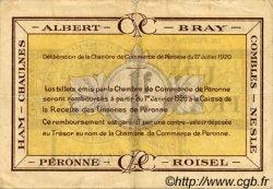 1 Franc FRANCE régionalisme et divers PÉRONNE 1920 JP.099.02 TB