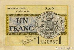 1 Franc FRANCE régionalisme et divers Péronne 1921 JP.099.04 SPL à NEUF