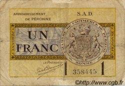 1 Franc FRANCE régionalisme et divers Péronne 1921 JP.099.04 TB