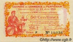 50 Centimes FRANCE régionalisme et divers Perpignan 1915 JP.100.05 TB
