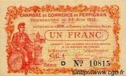 1 Franc FRANCE régionalisme et divers PERPIGNAN 1915 JP.100.07 SPL à NEUF