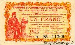 1 Franc FRANCE régionalisme et divers Perpignan 1915 JP.100.07 TTB à SUP