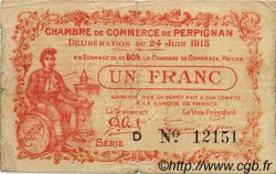 1 Franc FRANCE régionalisme et divers PERPIGNAN 1915 JP.100.07 TB