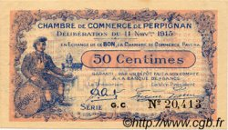 50 Centimes FRANCE régionalisme et divers Perpignan 1915 JP.100.09 TTB à SUP