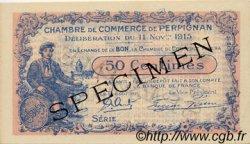 50 Centimes FRANCE régionalisme et divers Perpignan 1915 JP.100.10 SPL à NEUF