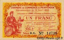 1 Franc FRANCE régionalisme et divers Perpignan 1915 JP.100.12 TTB à SUP