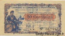 50 Centimes FRANCE régionalisme et divers PERPIGNAN 1916 JP.100.14 SPL à NEUF