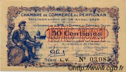 50 Centimes FRANCE régionalisme et divers PERPIGNAN 1916 JP.100.14 TTB à SUP