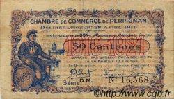 50 Centimes FRANCE régionalisme et divers Perpignan 1916 JP.100.14 TB