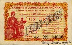 1 Franc FRANCE régionalisme et divers PERPIGNAN 1916 JP.100.20 TTB à SUP