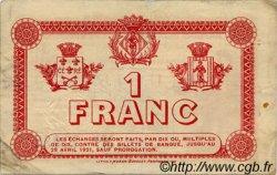 1 Franc FRANCE régionalisme et divers PERPIGNAN 1916 JP.100.20 TB