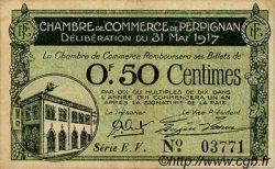 50 Centimes FRANCE régionalisme et divers PERPIGNAN 1917 JP.100.21 TB