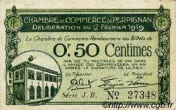 50 Centimes FRANCE régionalisme et divers PERPIGNAN 1919 JP.100.25