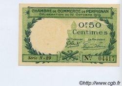 50 Centimes FRANCE régionalisme et divers PERPIGNAN 1919 JP.100.27 SPL à NEUF