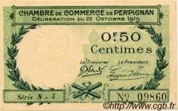 50 Centimes FRANCE régionalisme et divers PERPIGNAN 1919 JP.100.27 TTB à SUP