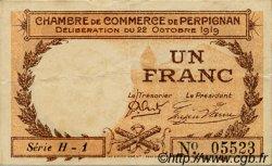 1 Franc FRANCE régionalisme et divers Perpignan 1919 JP.100.29 TTB à SUP