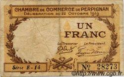 1 Franc FRANCE régionalisme et divers PERPIGNAN 1919 JP.100.29 TB