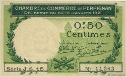 50 Centimes FRANCE régionalisme et divers Perpignan 1921 JP.100.31 SPL à NEUF