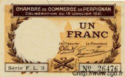 1 Franc FRANCE régionalisme et divers Perpignan 1921 JP.100.32 TTB à SUP