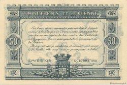 50 Centimes FRANCE régionalisme et divers Poitiers 1915 JP.101.01 SPL à NEUF