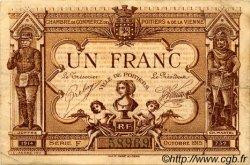 1 Franc FRANCE régionalisme et divers POITIERS 1915 JP.101.03 TTB à SUP