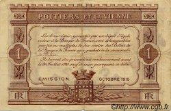 1 Franc FRANCE régionalisme et divers POITIERS 1915 JP.101.03 TB