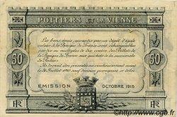 50 Centimes FRANCE régionalisme et divers POITIERS 1915 JP.101.05 TTB à SUP