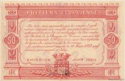 50 Centimes FRANCE régionalisme et divers POITIERS 1920 JP.101.11 SPL à NEUF