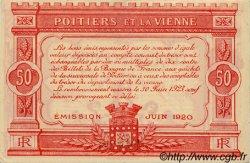 50 Centimes FRANCE régionalisme et divers POITIERS 1920 JP.101.11 TTB à SUP