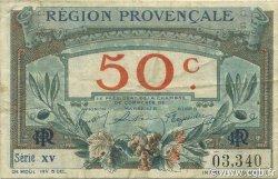 50 Centimes FRANCE régionalisme et divers ALAIS, ARLES, AVIGNON, GAP, MARSEILLE, NÎMES, TOULON 1918 JP.102.01 TB