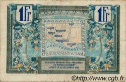 1 Franc FRANCE régionalisme et divers Alais, Arles, Avignon, Gap, Marseille, Nîmes, Toulon 1918 JP.102.08 TB