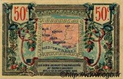 50 Centimes FRANCE régionalisme et divers ALAIS, ARLES, AVIGNON, GAP, MARSEILLE, NÎMES, TOULON 1918 JP.102.09 TTB à SUP