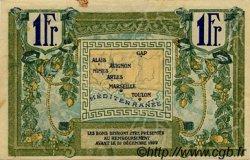 1 Franc FRANCE régionalisme et divers Alais, Arles, Avignon, Gap, Marseille, Nîmes, Toulon 1918 JP.102.18 TTB à SUP