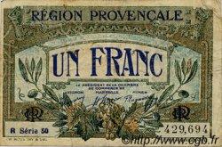 1 Franc FRANCE régionalisme et divers ALAIS, ARLES, AVIGNON, GAP, MARSEILLE, NÎMES, TOULON 1918 JP.102.18 TB