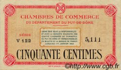 50 Centimes FRANCE régionalisme et divers PUY-DE-DÔME 1918 JP.103.01 TTB à SUP