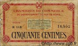 50 Centimes FRANCE régionalisme et divers Puy-De-Dôme 1918 JP.103.01 TB