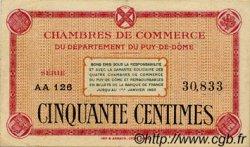 50 Centimes FRANCE régionalisme et divers Puy-De-Dôme 1918 JP.103.03 TTB à SUP