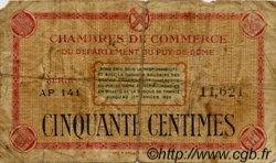 50 Centimes FRANCE régionalisme et divers Puy-De-Dôme 1918 JP.103.03 TB