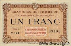 1 Franc FRANCE régionalisme et divers Puy-De-Dôme 1918 JP.103.06 TTB à SUP