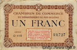 1 Franc FRANCE régionalisme et divers Puy-De-Dôme 1920 JP.103.06 TB